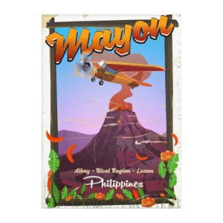 Mayon Volcano philippines adventure poster Acrylic Print