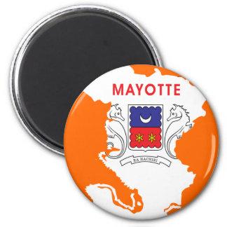 Mayotte flag map magnet
