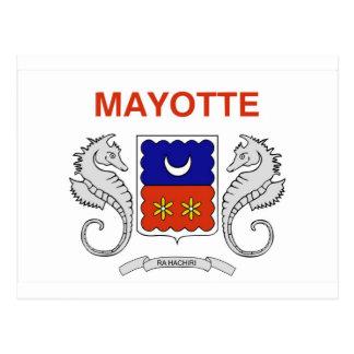 Mayotte flag postcard
