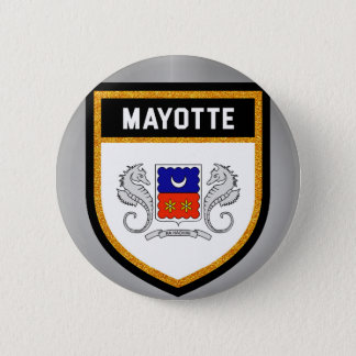 Mayotte Flag unique modern cool texture col 6 Cm Round Badge