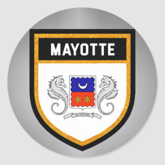 Mayotte Flag unique modern cool texture col Classic Round Sticker