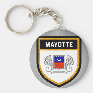 Mayotte Flag unique modern cool texture col Key Ring