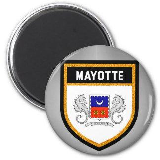 Mayotte Flag unique modern cool texture col Magnet