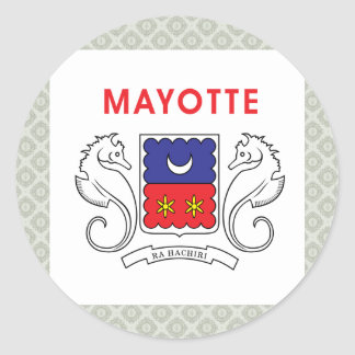 Mayotte High quality Flag Classic Round Sticker