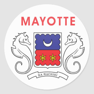 Mayotte quality Flag Circle Classic Round Sticker