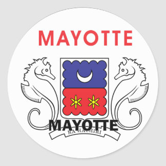 Mayotte Roundel quality Flag Classic Round Sticker