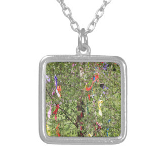 Maypole #2 silver plated necklace