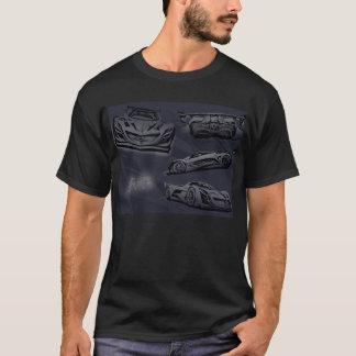 Mazda Furai Concept drawing Collage T-Shirt