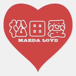 MAZDA LOVE Kanji Sticker