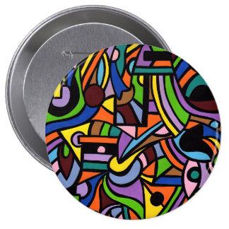 Maze 10 Cm Round Badge