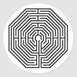 maze, Arras Labyrinth Sticker