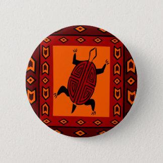 maze-back-turtle 6 cm round badge