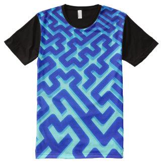 Maze Blue All-Over Print T-Shirt
