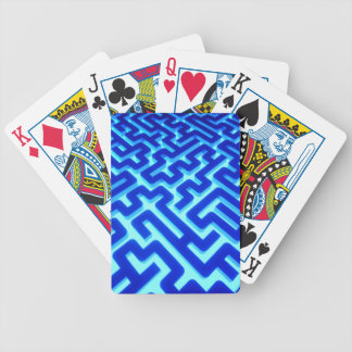 Maze Blue Bicycle Playing Cards