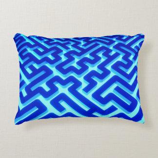 Maze Blue Decorative Cushion