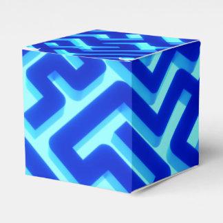 Maze Blue Favour Box