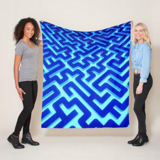 Maze Blue Fleece Blanket