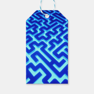 Maze Blue Gift Tags