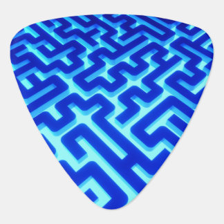 Maze Blue Guitar Pick