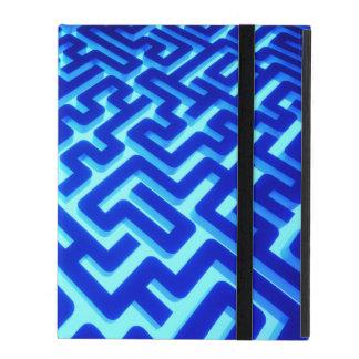 Maze Blue iPad Case