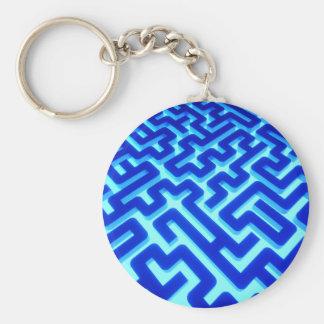 Maze Blue Key Ring
