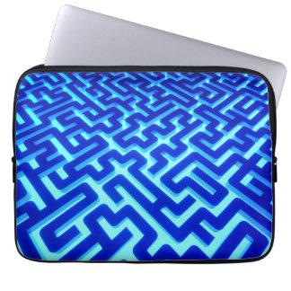 Maze Blue Laptop Sleeve