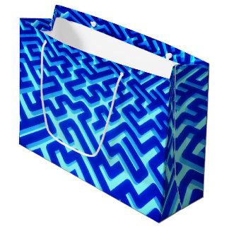 Maze Blue Large Gift Bag