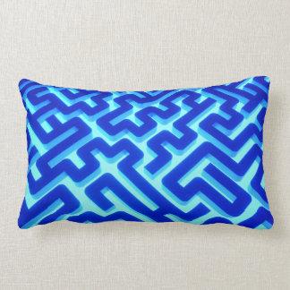 Maze Blue Lumbar Cushion