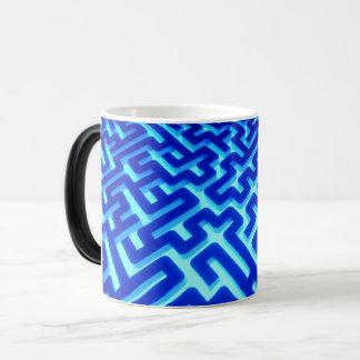 Maze Blue Magic Mug