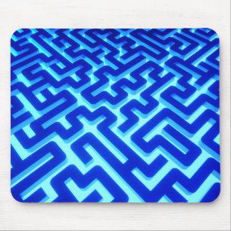 Maze Blue Mouse Pad
