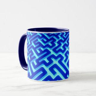 Maze Blue Mug