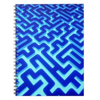 Maze Blue Notebook