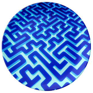 Maze Blue Plate
