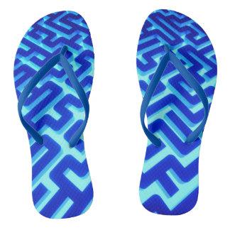 Maze Blue Thongs