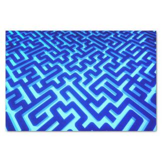 Maze Blue Tissue Paper