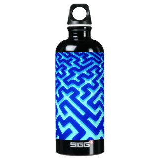 Maze Blue Water Bottle