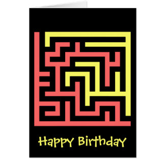 Maze Greeting Card