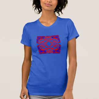 Maze Fashion Shirt - Women- Red/Blue