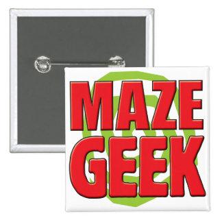 Maze Geek Pinback Button