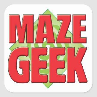 Maze Geek v2 Square Sticker