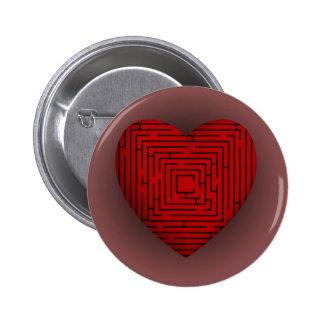 Maze Heart Pins