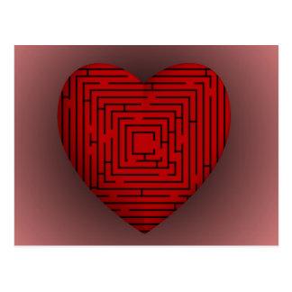 Maze Heart Postcard