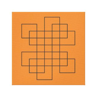Maze on Orange Canvas Print