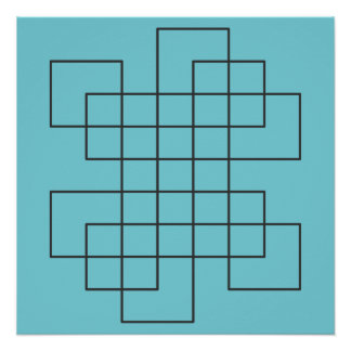 Maze on Robin's Egg Blue