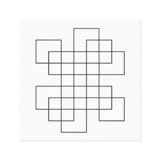 Maze on White Canvas Print