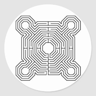 maze, Reims Labyrinth Sticker