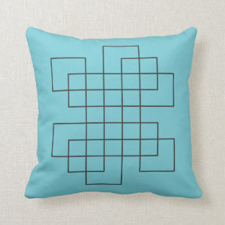 Maze Robins Egg Blue Throw Pillow