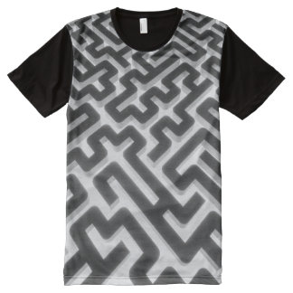 Maze Silver Black All-Over Print T-Shirt