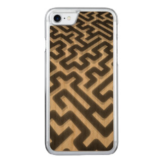 Maze Silver Black Carved iPhone 8/7 Case