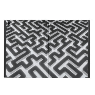 Maze Silver Black Case For iPad Air